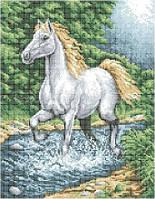 Схема для вышивки бисером Белый конь А3