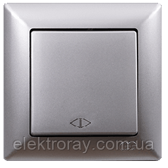 Выключатель перекрестный (реверсивный) Gunsan Visage Metallic серебро