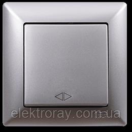 Выключатель перекрестный (реверсивный) Gunsan Visage Metallic серебро, фото 2