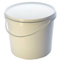 Ведро пищевое белое п/э.   10 литр.