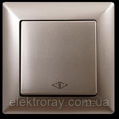Выключатель перекрестный (реверсивный) Gunsan Visage Metallic золото