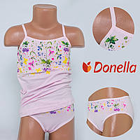 Детский комплект нижнего белья майка+трусики Donella, Турция. Donella 4371XCS-1 0/1. Размер на 0-1 годик.