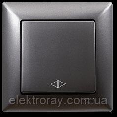 Выключатель перекрестный (реверсивный) Gunsan Visage Metallic дымчатый