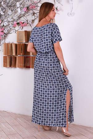 Нежное женское штапельное платье с интересным принтом, фото 2