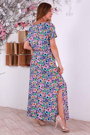 Нежное женское штапельное платье с интересным принтом, фото 3