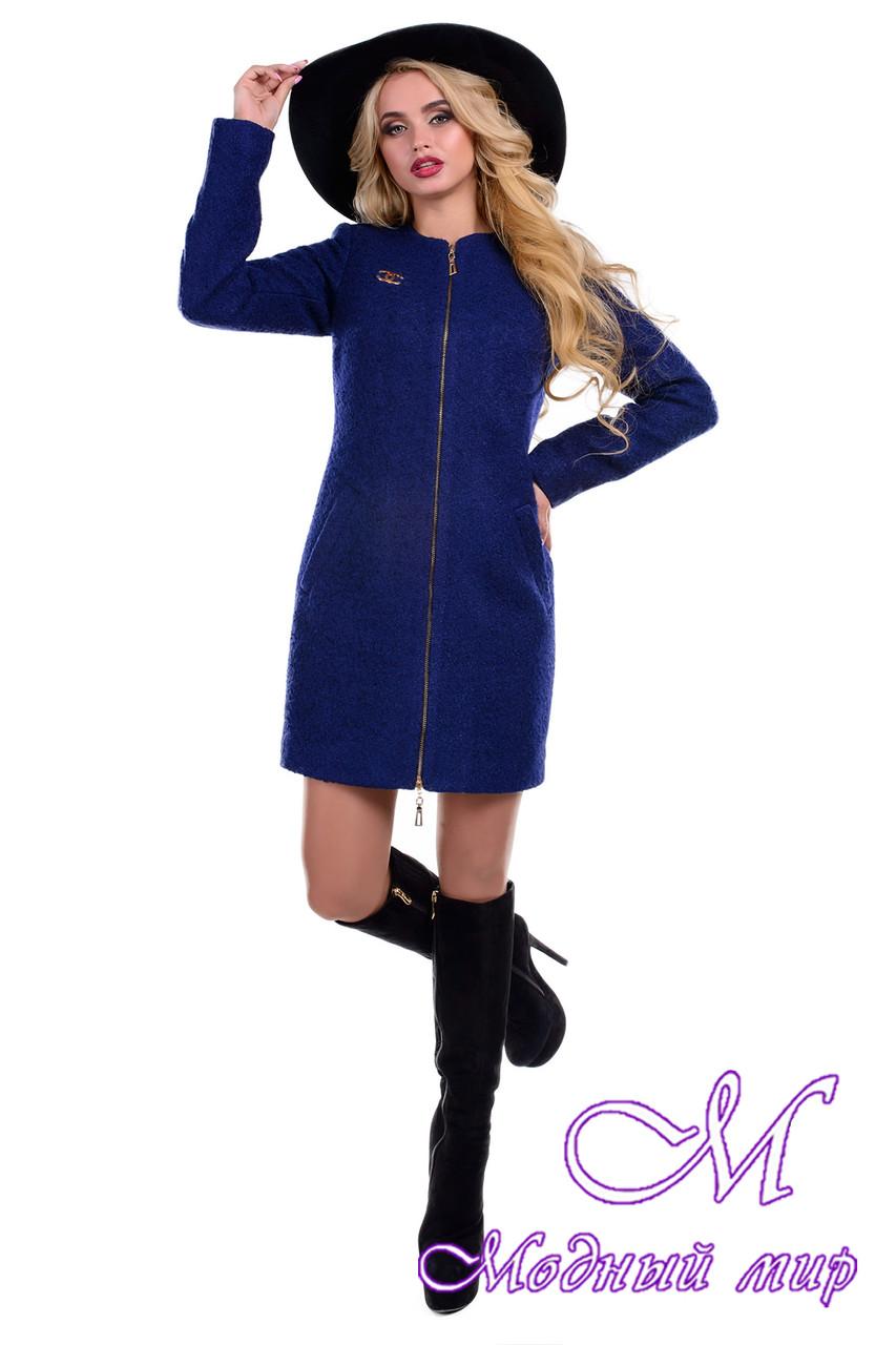 Женское демисезонное пальто на молнии (р. S, M, L) арт. Сан-Ремо букле 6742