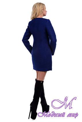 Женское демисезонное пальто на молнии (р. S, M, L) арт. Сан-Ремо букле 6742, фото 2