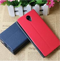 Чехол книжка для BQ Mobile BQS-5502 Hammer красный, фото 2