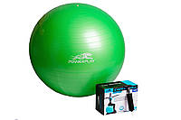 Мяч для фитнеса Power Play 65 см + насос (зел)