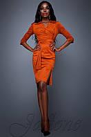 Женское кирпичное платье Крейзи Jadone Fashion 42-48 размеры