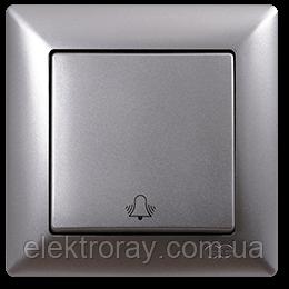 Кнопка звонка Gunsan Visage Metallic серебро