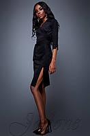 Женское черное платье Крейзи Jadone Fashion 42-48 размеры