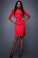 Женское красное платье Крейзи Jadone Fashion 42-48 размеры