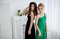 Платье трансформер для подружек невесты зеленый