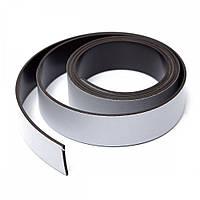 Магнітна стрічка 25,4 мм з клейовим шаром 1м