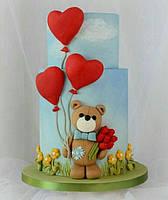 Торт сердце 30