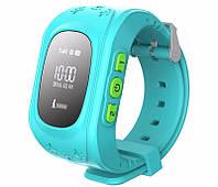 """Детские часы Q50 с GPS Blue, GPS трекер (маяк для отслеживания детей), дисплей: 0,96"""", Стандарты связи GPS/GSM/GPRS, аккумулятор 400 mAh,"""