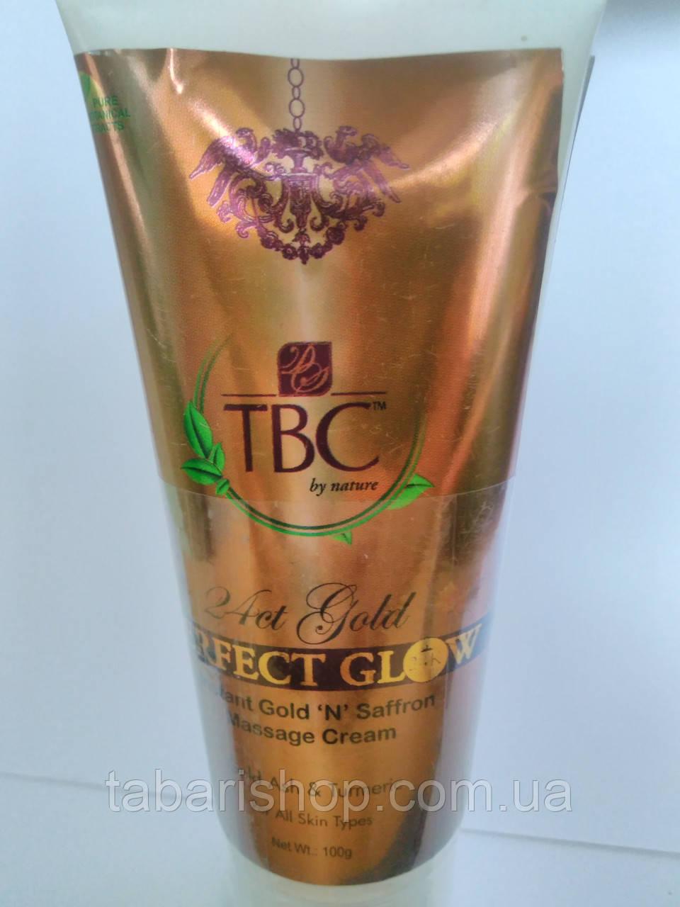 Крем для лица массажный с 24 кт Золото и Шафран, 24kt Gold & Saffran Massage Cream, 100 гр