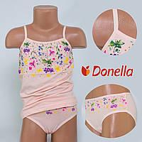 Детский комплект нижнего белья майка+трусики Donella, Турция. Donella 4371XCS-2 0/1-R. Размер на 0-1 годик.