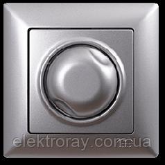 Диммер 1000W поворотный Gunsan Visage серебро