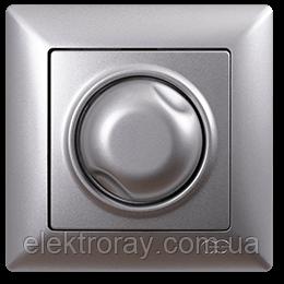 Диммер 1000W поворотный Gunsan Visage серебро, фото 2