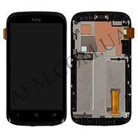 Дисплей (LCD) HTC T328w Desire V с сенсором черный + рамка