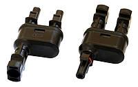 Комплект Y-соединителей MC4T-A1 (под разъёмы MC4-типа) для солнечных батарей