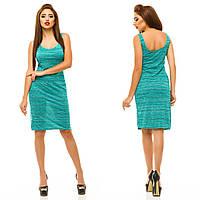 Красивое летнее платье с полукруглым вырезом горловины.