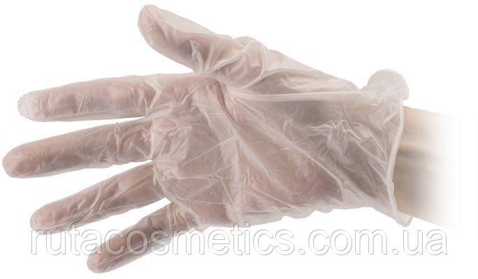 Перчатки виниловые белые, размер М (цена за одну пару)