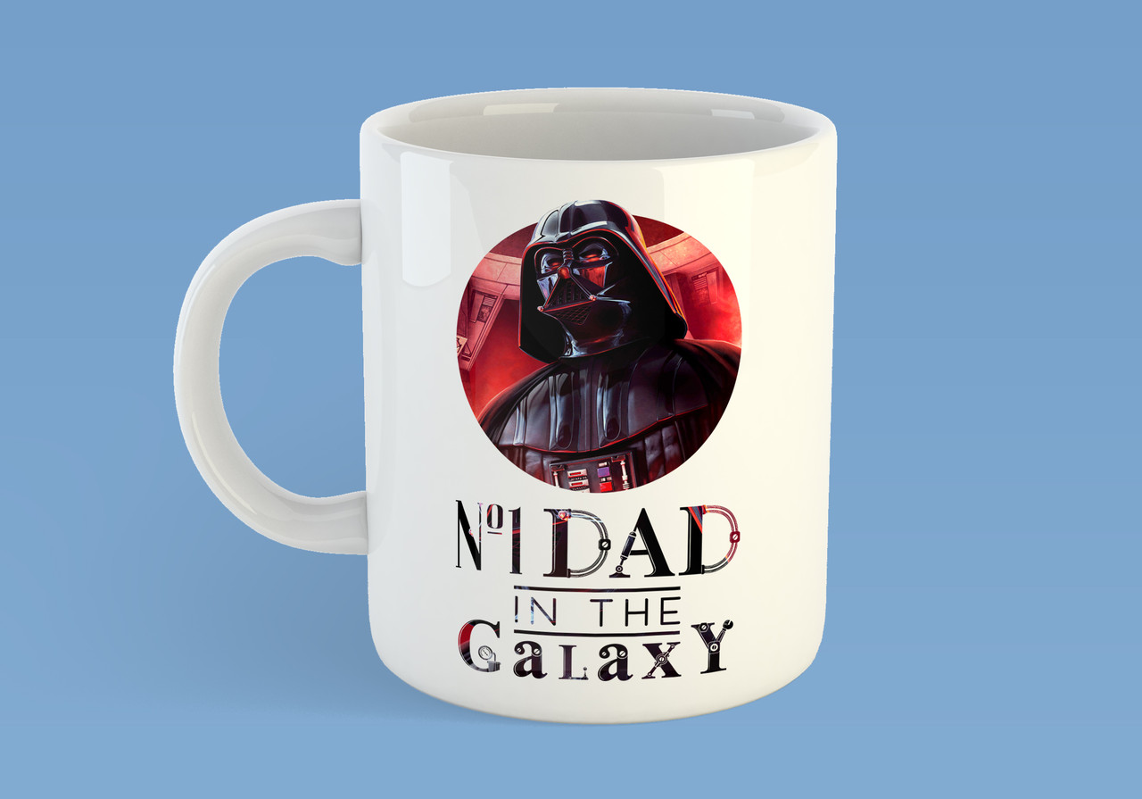 "Чашка ""№1 DAD in the galaxy"""