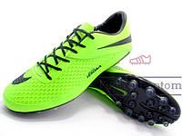 Бутсы (копы) Nike Hypervenom Phelon (0301) Салатовые