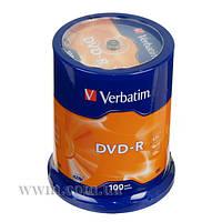 Диск Verbatim DVD+R 4.7 GB/120 min 16x Cake Box 100шт (43549) Matt Silver