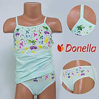 Детский комплект нижнего белья майка+трусики Donella, Турция. Donella 4371XCS-3 2/3-R. Размер на 2-3 годикa.