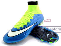 Бутсы (копы) Nike Mercurial Superfly FG (0326) синие