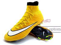 Бутсы (копы) Nike Mercurial Superfly FG (0329) желтые