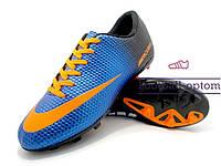 Бутсы (копы) Nike Mercurial Victory (0576) синие