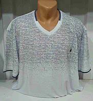 Мужская футболка 3D лен белая
