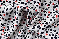 Ткань Вискоза шелковая принт, арт. 2332/6/1, Блик (белый)