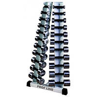 Тренажер Стойка с набором гантелей хромированных (0,5 - 10 кг) InterAtletikGym ST410.1