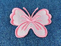 Нашивка бабочка big цвет розовый