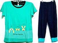 Пижама люкс Турция футболка и капри с манжетами L( наш размер 46-48)
