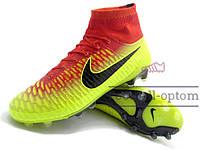 Бутсы (копы) Nike Magista Obra FG (0407) желтые