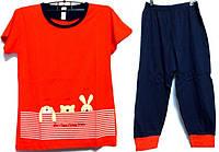 Пижама люкс Турция футболка и капри с манжетами XL( наш размер 50-52)