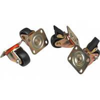 Hypernet DYN-C-FS Набор роликов для напольных шкафов 4 шт(2 с тормозом, 2 без тормоза), Hypernet DYN-C-FS