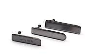 Комплект боковых заглушек для Sony Xperia Z1 Compact D5503 | M51w (черный цвет)