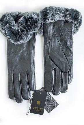 Женские перчатки Felix с мехом Средние 10-356, фото 3