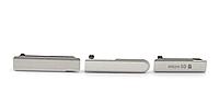 Комплект боковых заглушек для Sony Xperia Z1 Compact D5503 | M51w (серебристый цвет)