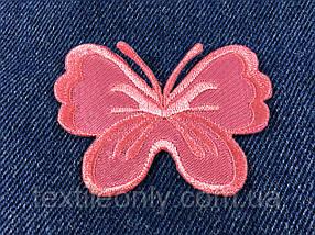 Нашивка метелик big колір яскраво рожевий