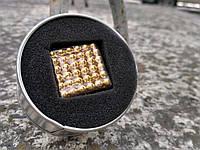 Конструктор Неокуб Золотой Neocube 216 шариков 5мм в боксе , нэокуб Neo cub
