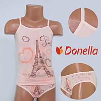 Детский комплект нижнего белья майка+трусики Donella, Турция. Donella 4371WPR 6/7-R. Размер на 6-7 лет.